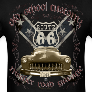Design ~ oldschool customs Hot Rod route 66 mercury