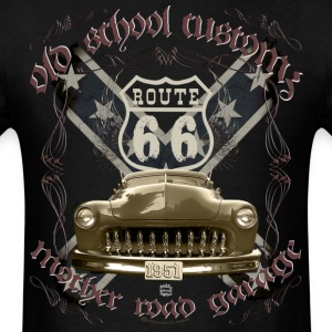 oldschool customs Hot Rod route 66 mercury T-Shirts - Men's T-Shirt