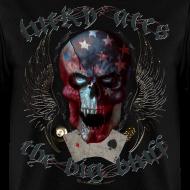 Design ~ Lucky Aces Skull Gambler the big bluff tattoo