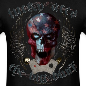 lucky aces gamble big bluff skull wings T-Shirts - Men's T-Shirt