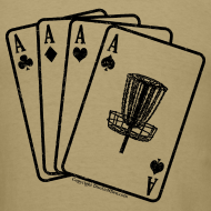 Design ~ Disc Golf Aces Playing Cards - Black Print on Back - Standard Weight Shirt - Men's