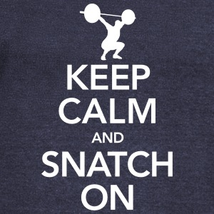 Keep Calm And Snatch On Long Sleeve Shirts - Women's Wideneck Sweatshirt