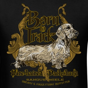 dachshund_born_to_track T-Shirts - Men's T-Shirt