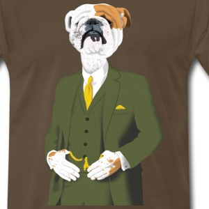 Refined English Bulldog - Men's Premium T-Shirt