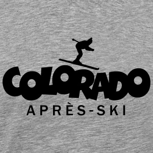 Colorado Après-Ski T-Shirts (Men Grey) - Men's Premium T-Shirt