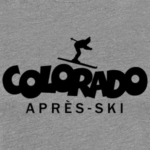Colorado Après-Ski T-Shirts (Women Grey) - Women's Premium T-Shirt