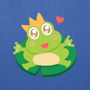cute and happy little frog with crown Bags & backpacks - Tote Bag