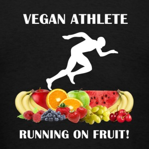 Vegan Athlete front Vegan Athlete Man Running on F - Men's T-Shirt
