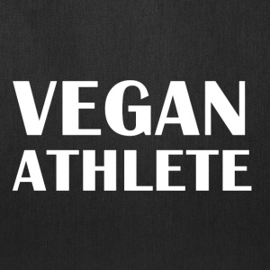 Vegan Athlete front Vegan Athlete Biking on Fruit  - Tote Bag