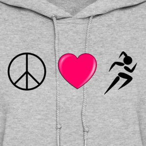 Peace Love Run Hoodies - Women's Hoodie