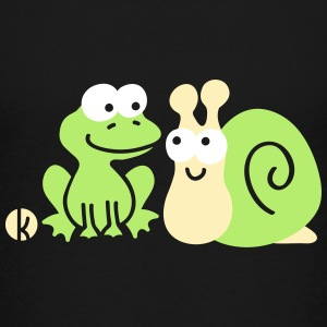 Frog and Snail Buddies Kids' Shirts - Kids' Premium T-Shirt