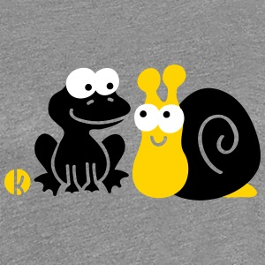 Frog and Slug Friendship Women's T-Shirts - Women's Premium T-Shirt