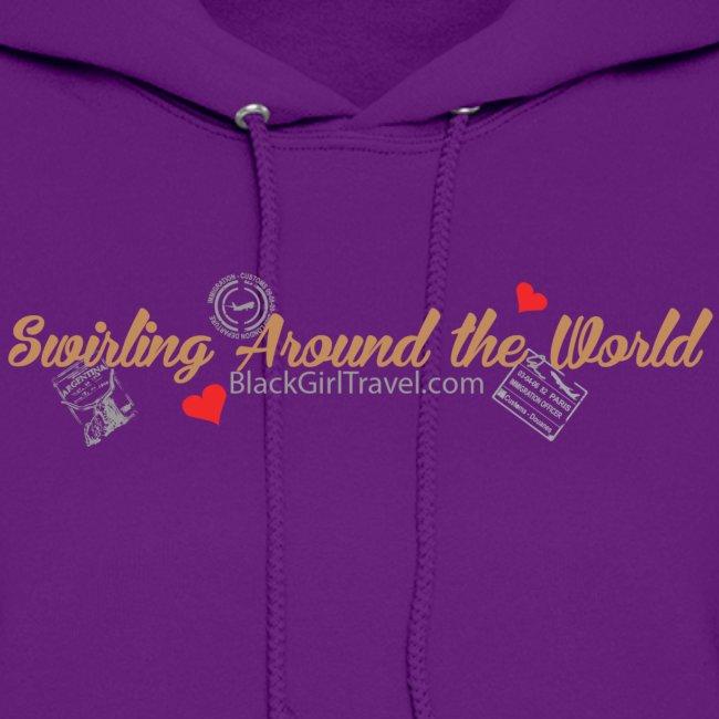 Swirling - Passport Stamp - Purple
