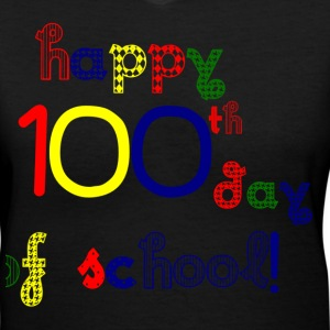 Happy 100th Day Women's T-Shirts - Women's V-Neck T-Shirt