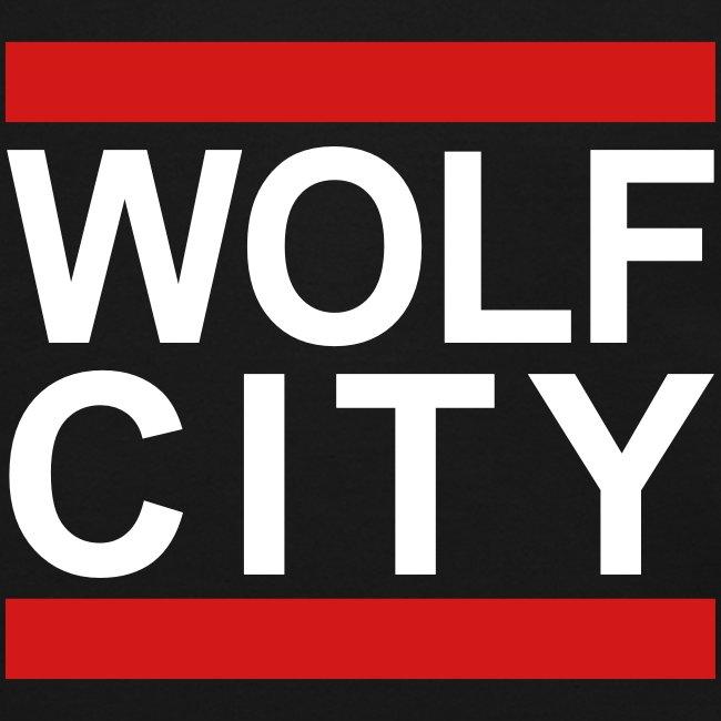 """WOLF CITY"" Black - Crewneck Pullover"