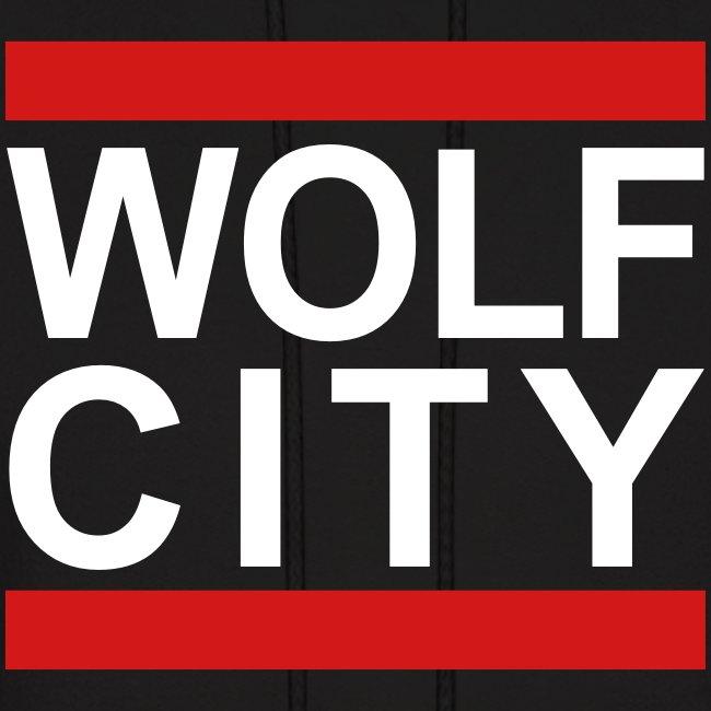 """""""WOLF CITY"""" Black - Hoodie"""