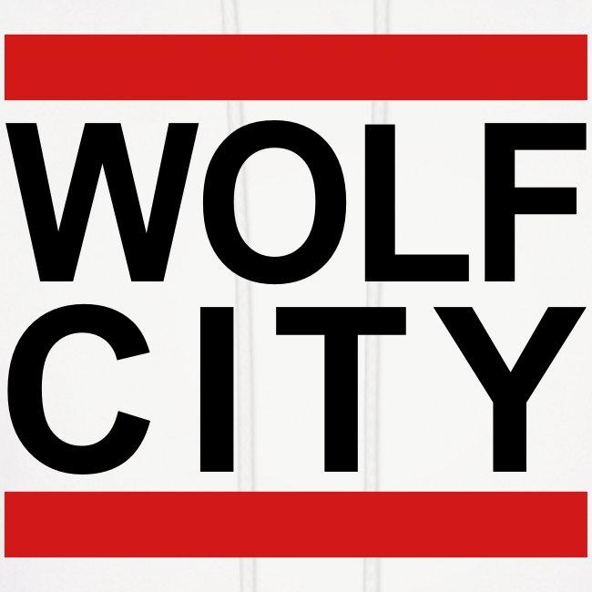 """""""WOLF CITY"""" White - Hoodie"""