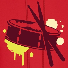 A drum and sticks as a graffiti Hoodies
