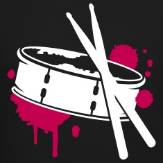 A drum and sticks as a graffiti Long Sleeve Shirts