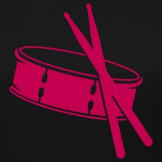 A drum and sticks Long Sleeve Shirts
