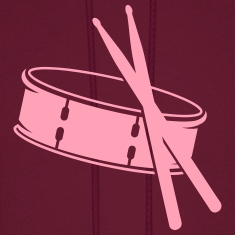 A drum and sticks Hoodies