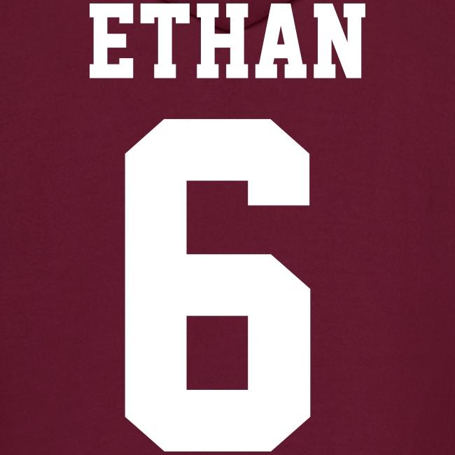 """""""ETHAN 6"""" - Hoodie (XL Logo, NBL)"""