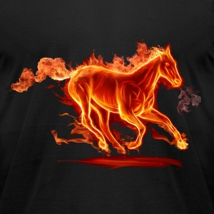 Horse T-Shirts - Men's T-Shirt by American Apparel