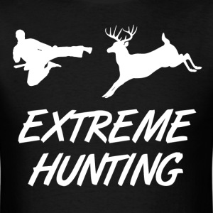 Extreme Hunting Karate Kick Deer - Men's T-Shirt