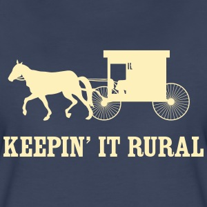 Keepin' it rural (Amish) Women's T-Shirts - Women's Premium T-Shirt
