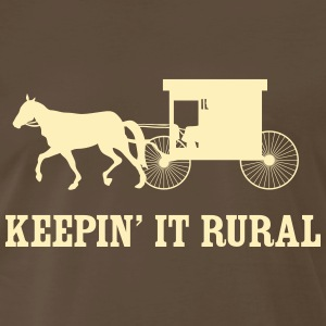 Keepin' it rural (Amish) T-Shirts - Men's Premium T-Shirt