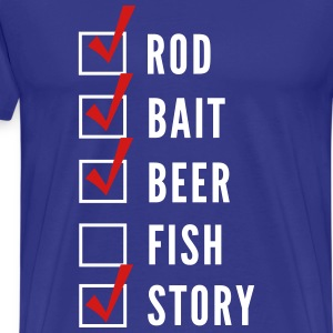 Funny Fishing Checklist T-Shirts - Men's Premium T-Shirt