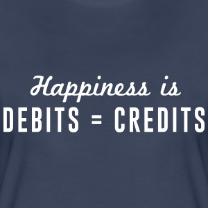 Happiness is debits = credits Women's T-Shirts - Women's Premium T-Shirt