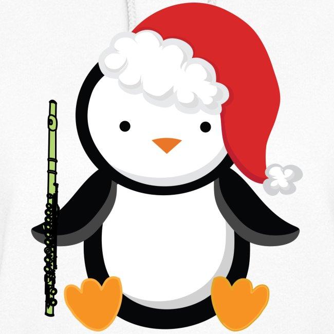 e426e4f24afda Flute Music Christmas Penguin Hoodie