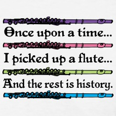 Flute Music Cute Quote Women's T-Shirts