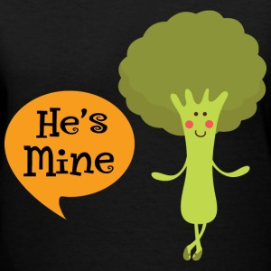 Couples He's Mine Veggie Women's T-Shirts - Women's V-Neck T-Shirt