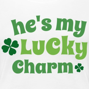 Couples He's My Lucky Charm Irish Women's T-Shirts - Women's Premium T-Shirt