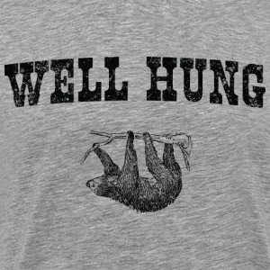 Sloth. Well Hung T-Shirts - Men's Premium T-Shirt
