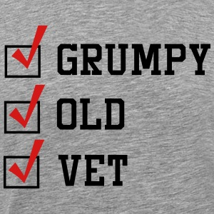 Grumpy  Old Vet. Check T-Shirts - Men's Premium T-Shirt