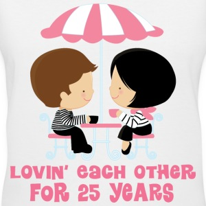 25th Anniversary French Couple Women's T-Shirts - Women's V-Neck T-Shirt