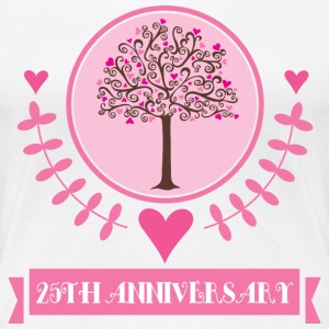 25th Anniversary Love Tree Women's T-Shirts - Women's Premium T-Shirt