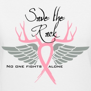 Breast Cancer Save the rack Women's T-Shirts - Women's V-Neck T-Shirt