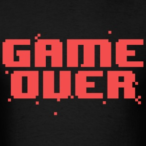Game Over Pixel Text T-Shirts - Men's T-Shirt