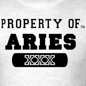 PROPERTY OF ARIES - Men's T-Shirt