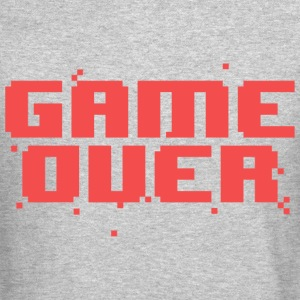 Game Over Pixel Text Long Sleeve Shirts - Crewneck Sweatshirt