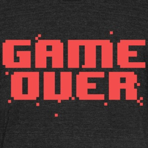 Game Over Pixel Text T-Shirts - Unisex Tri-Blend T-Shirt by American Apparel