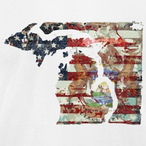 Michigan Patriot Pride T-Shirts - Men's T-Shirt by American Apparel