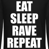 Design ~ Eat Sleep Rave Repeat Crewneck Sweatshirt
