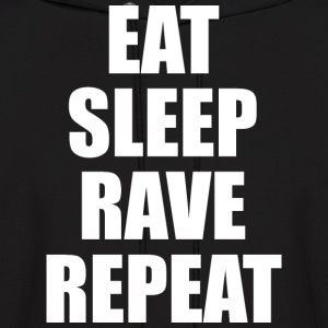 Eat Sleep Rave Repeat EDM Design Hoodies - Men's Hoodie