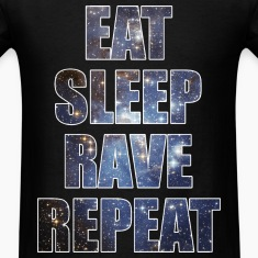 Eat Sleep Rave Repeat EDM Stars Design T-Shirts