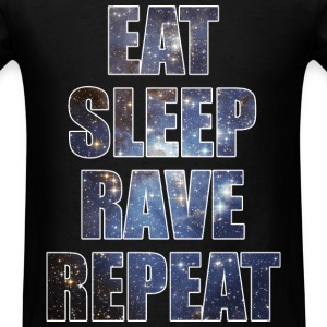 Eat Sleep Rave Repeat EDM Stars Design T-Shirts - Men's T-Shirt